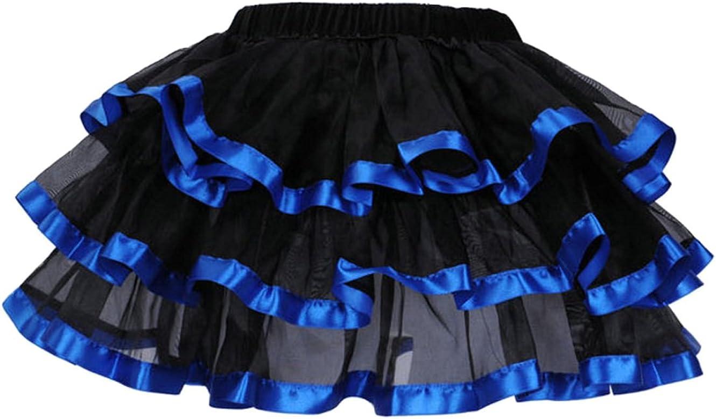 Faldas de tutú para Mujer 3 Capas Falda de Tul Negra Borde ...