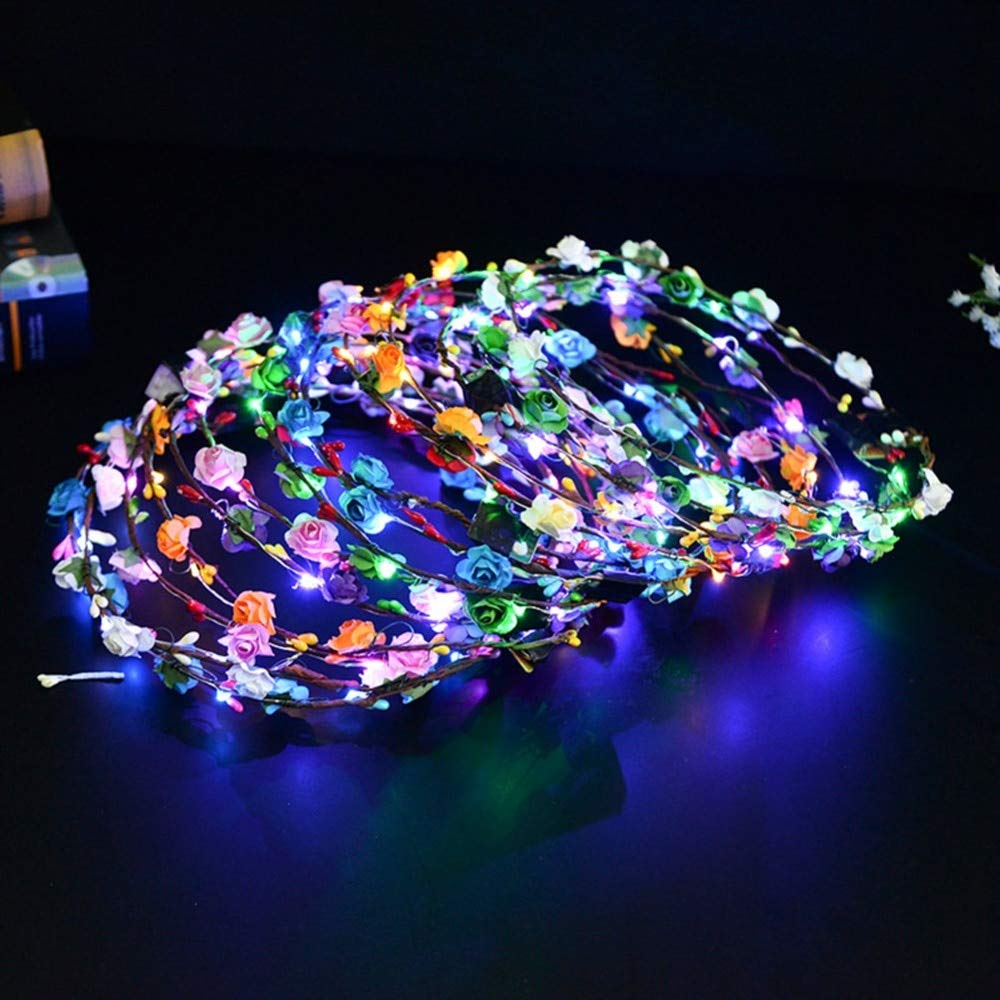 VT BigHome Princess Birthday Gift Bubble Headdress Glowing Light Garland Headband Hair Accessories Flash Garland Popular Toys