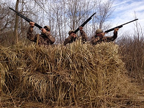 Duck Blind Camo Palm Thatch Grass Mats (5'H x 4'W - 4 sheets per (Duck Boat Blinds)