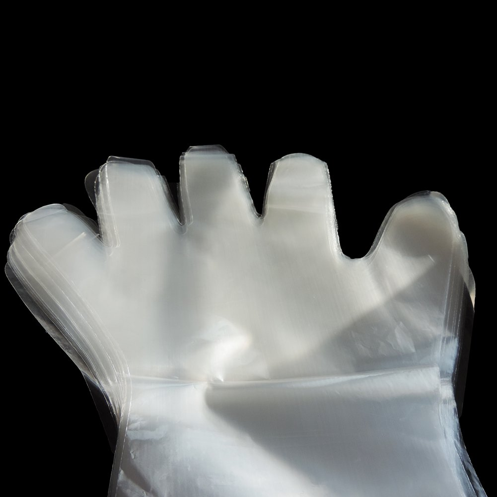 Lucky Farm 50Pcs Disposable Soft Plastic Film Gloves Transparent Long Arm Veterinary Examination Artificial Insemination Glove by Lucky Farm (Image #4)