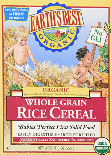 Earth's Best Certified Organic Whole Grain Rice Cereal -- 8