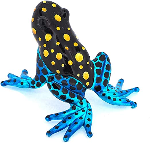 New Frog Hand Blown Glass Figurine Collectibles Miniature Animal Decor Cute Gift