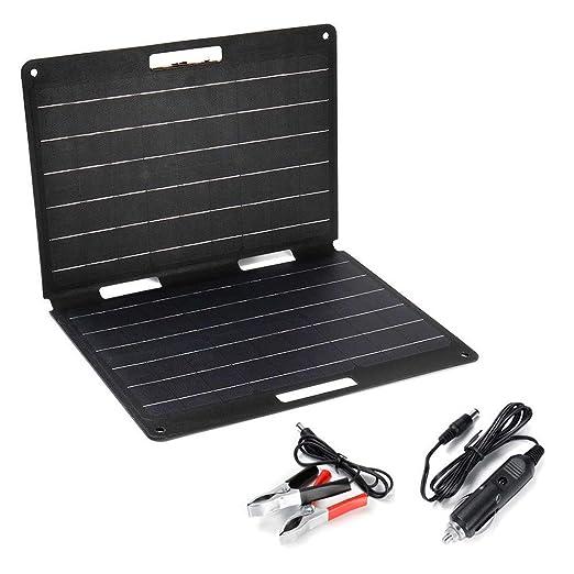 SEESEE.U Cargador Solar, 60W Cargador de Panel Solar ...