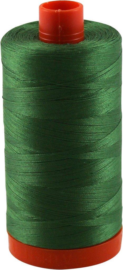 Aurifil Thread 2890 DARK GRASS GREEN Cotton Mako 50wt Large Spool 1300m MK50 2890