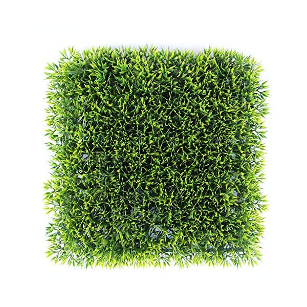 Naturalgarden Artificial Hedges Panels for Both Outdoor or Indoor, Garden, Fencing, Backyard and Home UV Resistant Decor 20″ x 20″ Home, Wedding, Plaque Decoration (4 Leaves, 12pc)