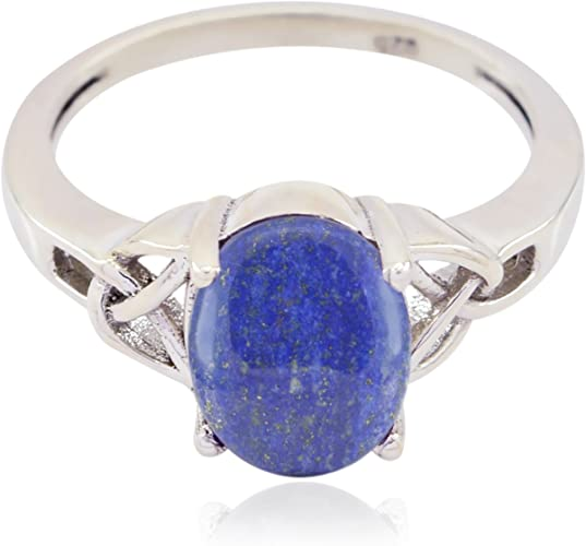 Most Jewellery Gift for Mothers Day top Ring 925 Sterling Silver Blue Iolite Natural Gemstone Ring Natural Gemstone Round cabochon Iolite Rings
