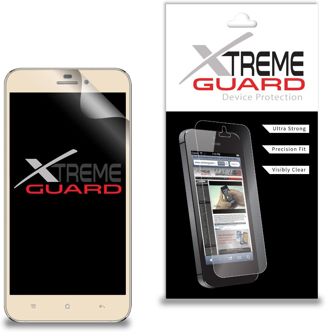 Premium XtremeGuard Screen Protector Cover for CellAllure Miracle 6.0 (Ultra Clear)