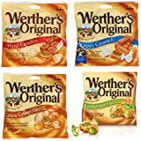 Werther's Bundle (4 Items) Variety Pack (Original Hard Candies/Chewy Caramels/Creamy Caramel Filled/Caramel Apple Filled)