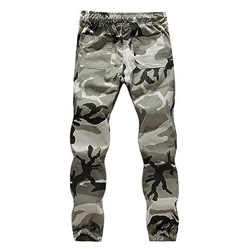 f8b9c6ade7 Ba Zha Hei Männer Camouflage-Hose Hose Große Größe Männer Casual Jogger  Camo Sportwear Baggy
