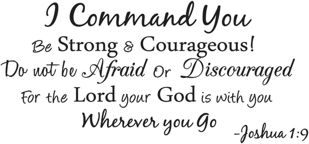 Empresal I Command You Vinyl Quote Wall Decal Joshua 1:9 God Scripture Bible Word