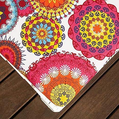 SUENOSZZZ-ESPECIALISTAS DEL DESCANSO Pack 2 Asientos para Sofas de palets cojin Chill out Relleno con Espuma y enfundado en Tela Estampada Elga
