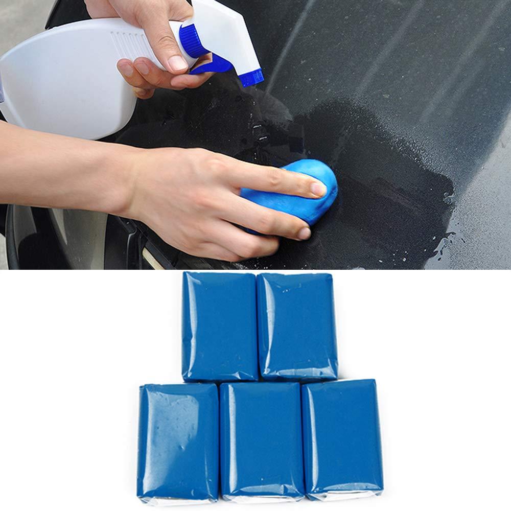 STYLINGCAR Reinigungsknete Auto Lackreinigungsknete 5 Stü cke Professionell Entfernung von Farbnebel und Flecken auf der Fahrzeugoberflä che (Blau)