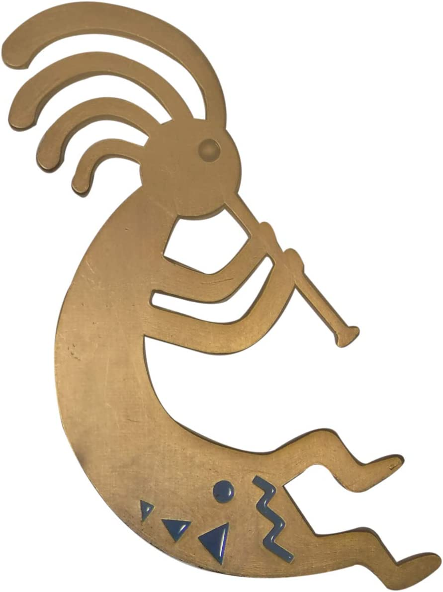 Kokopelli Magnet (Bronze) Arizona Gift Souvenir Decorative Metal Refrigerator Magnet Southwest Gift Idea