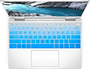 """Keyboard Cover Skin for New 2019 Dell XPS 13 7390 2-in-1 13.3"""" Laptop Keyboard Cover Protector, Dell XPS 13 7390 2-in-1 Accessories (for 2-in-1 Version Only), Ombre Blue"""