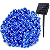 Qedertek 200 LED Solar String Lights - 72ft Fairy Christmas Lights Decorative Lighting for Home - Lawn - Garden - Wedding - Patio - Party and Holiday Decorations (Blue)