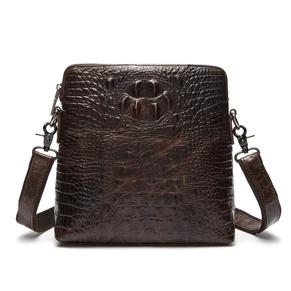 Balalafairy Lightweight Messenger Bag Men's Messenger Shoulder Bag Vintage Leather Briefcase Crossbody Day Bag for School and Work Adjustable Shoulder Strap