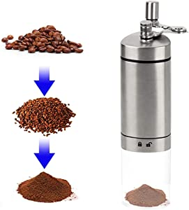 Mochiglory Manual Coffee Grinder, Adjustable Conical Burr Coffee Bean Mill for Travel Stainless Steel