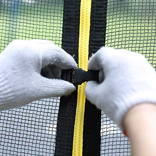 Zupapa 15FT 14FT 12FT 10FT Trampoline Inside-Enclosure net Replacement Black Mesh (12FT) by Zupapa (Image #3)