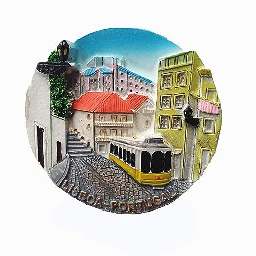 MUYU Magnet Lisboa Portugal Imán de Nevera 3D Colección de Regalos ...
