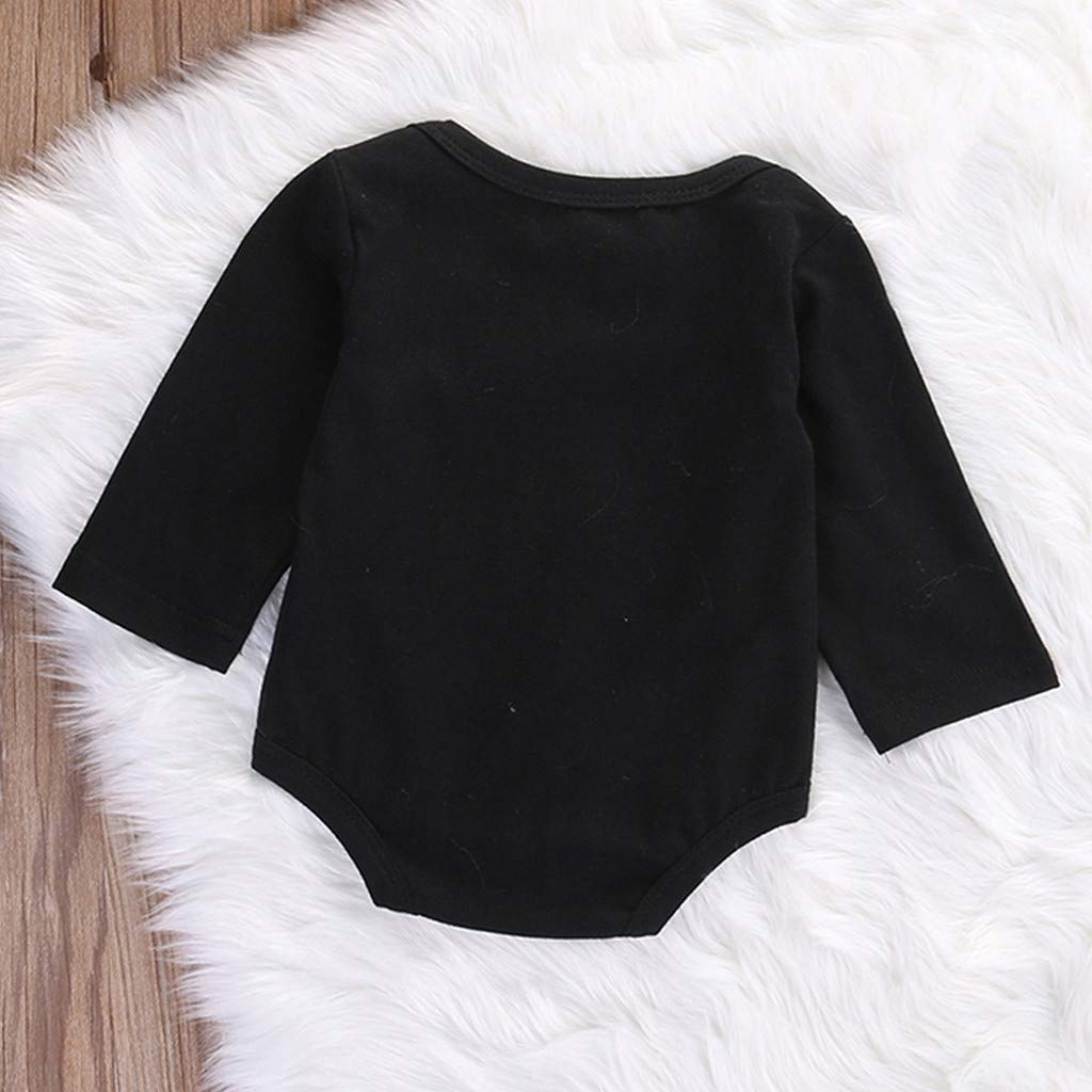 SUNBIBE Baby Girls Boys Romper Age 0-18 Months,Long Sleeve Letter Cheers 2019 Happy New Years Clothes Jumpsuit Bodysuit
