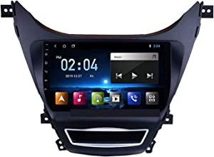 Gaoweipeng Car Radio Receiver Stereo for Hyundai Elantra Avante 2011-2013 Head Unit Sat Nav Multimedia Player Touchscreen Support Carplay Android Auto Steering Wheel Controls FM WiFi