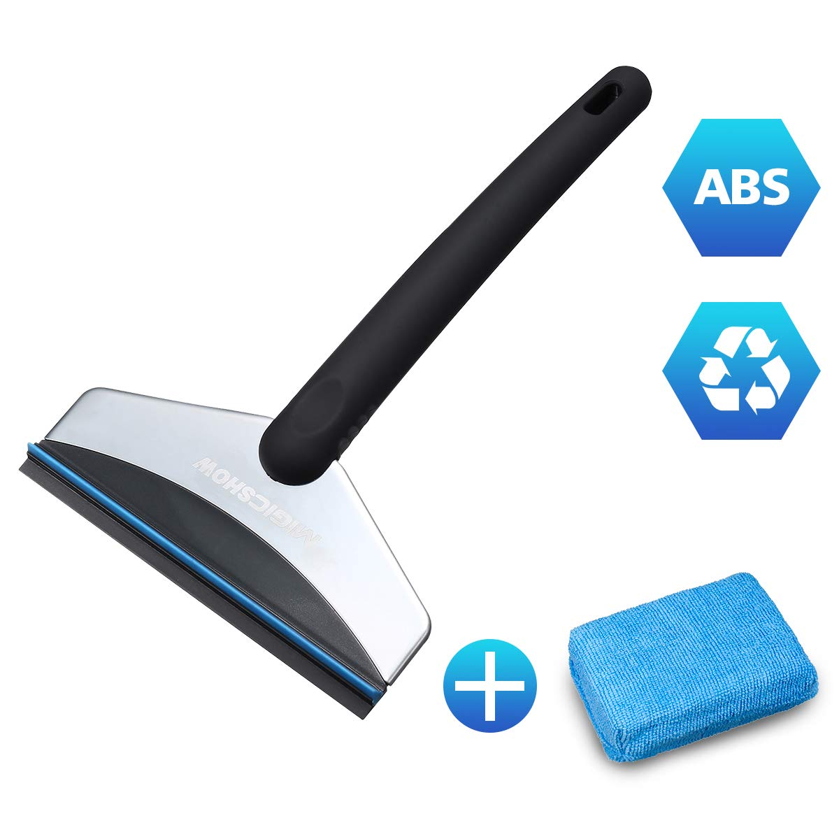 MIGICSHOW Ice Scraper for Cars, Windscreen Scraper Stainless Steel Snow Shovel windshield Scraper Snow Brush Grip with A 3CM Sponge For Car Van Scrape Ice From Windscreens And Side Windows With Ease MIGICSHOWyuhdhdjfhsja41