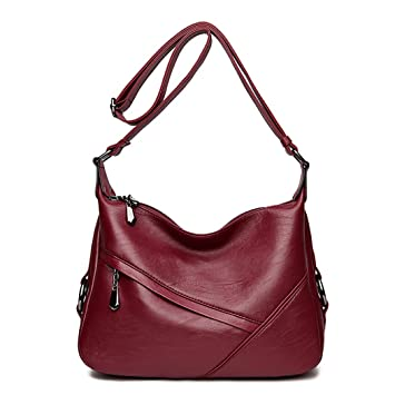0fef1e35d50 Amazon.com: Fanspack PU Leather Hobo Bags for Women Simple Casual ...