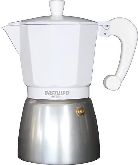 Bastilipo Colori-12 Cafetera, Aluminio, Blanco