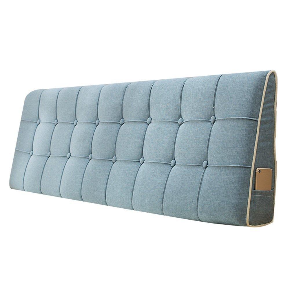 WENZHE Kopfteil Kissen Bett Rückenkissen Rückenlehne Stoff Kissen Softcase Waschbar Einfach zu säubern Atmungsaktiv Nicht deformiert, 7 Farben (Farbe   2 , größe   120 x 50 m)