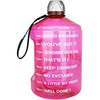 BuildLife 1 Gallon Water Bottle Motivational Fitness Workout with Time Marker/Drink More Water Daily/Clear BPA-Free/Large 128 OZ/73OZ / 43OZ of Water Throughout The Day