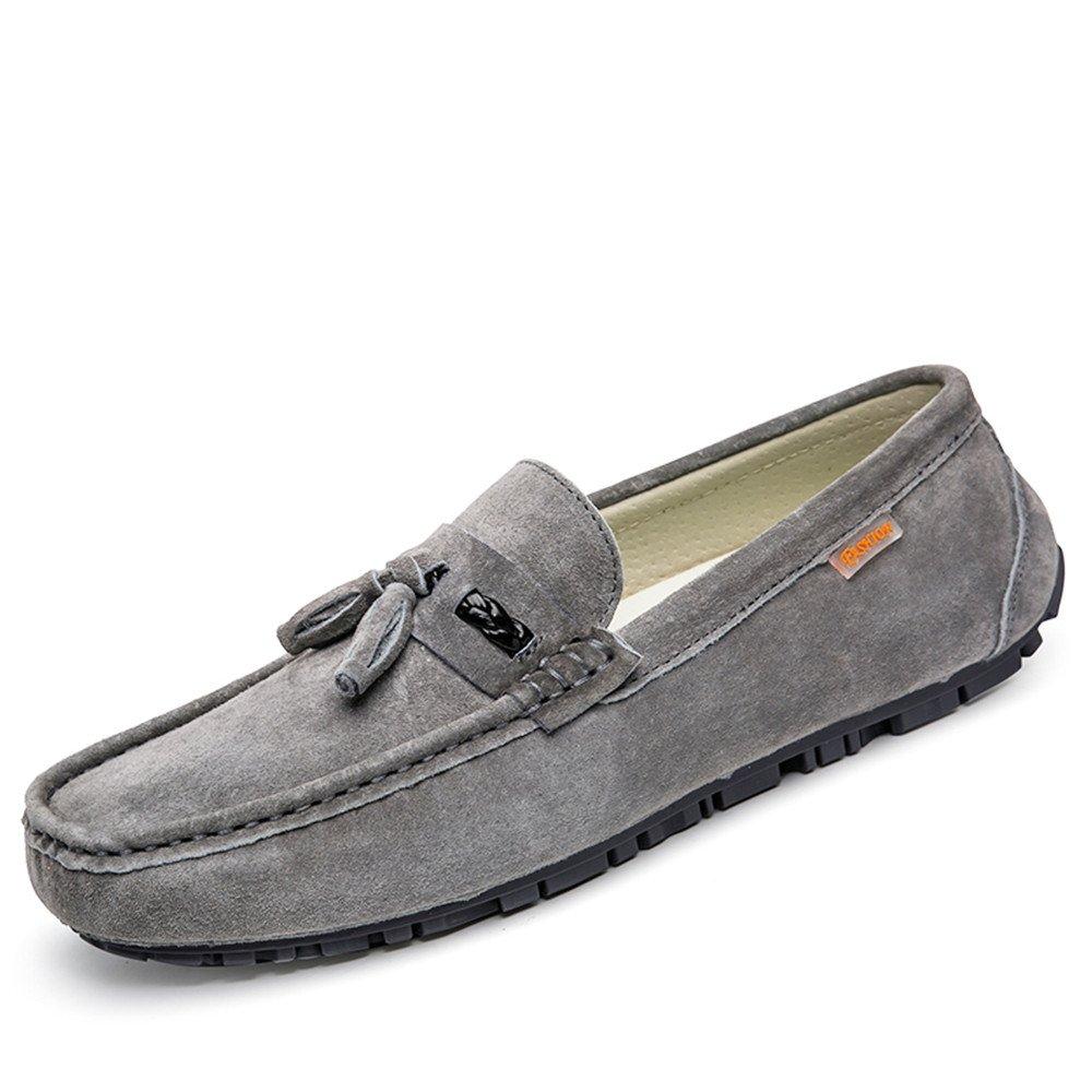 Xiazhi-shoes, Mocasines Drive para Hombre, Mocasines de Barcos Transpirables de Moda con Borla británica Informal (Color : Gris, tamaño : 39 EU): Amazon.es: ...