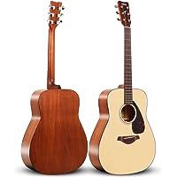 YAMAHA 雅马哈 FG800M 单板民谣木吉他 41英寸 哑光原木色 送加厚琴包等玩琴大礼包