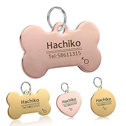 amazon com yvyoo custom dog collar stainless steel dog cat tag