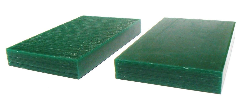 Ferris Wax Carving Wax Tablets Green 5/8 Thick Hard 6 x 3-5/8 Flat Bars 2 PC