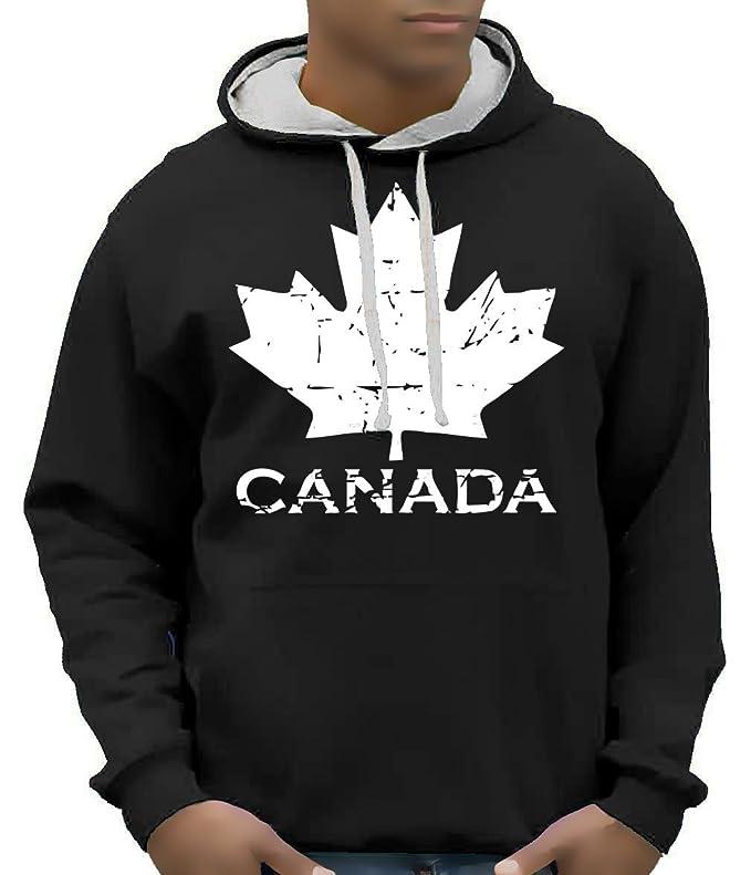 f466f1372f Coole-Fun-T-Shirts Canada Vintage NEU Acero Canada Felpe con Cappuccio  Grigio Chiaro, Nero, Rosso SML XL XXL 3 XL, Schwarz Varsity