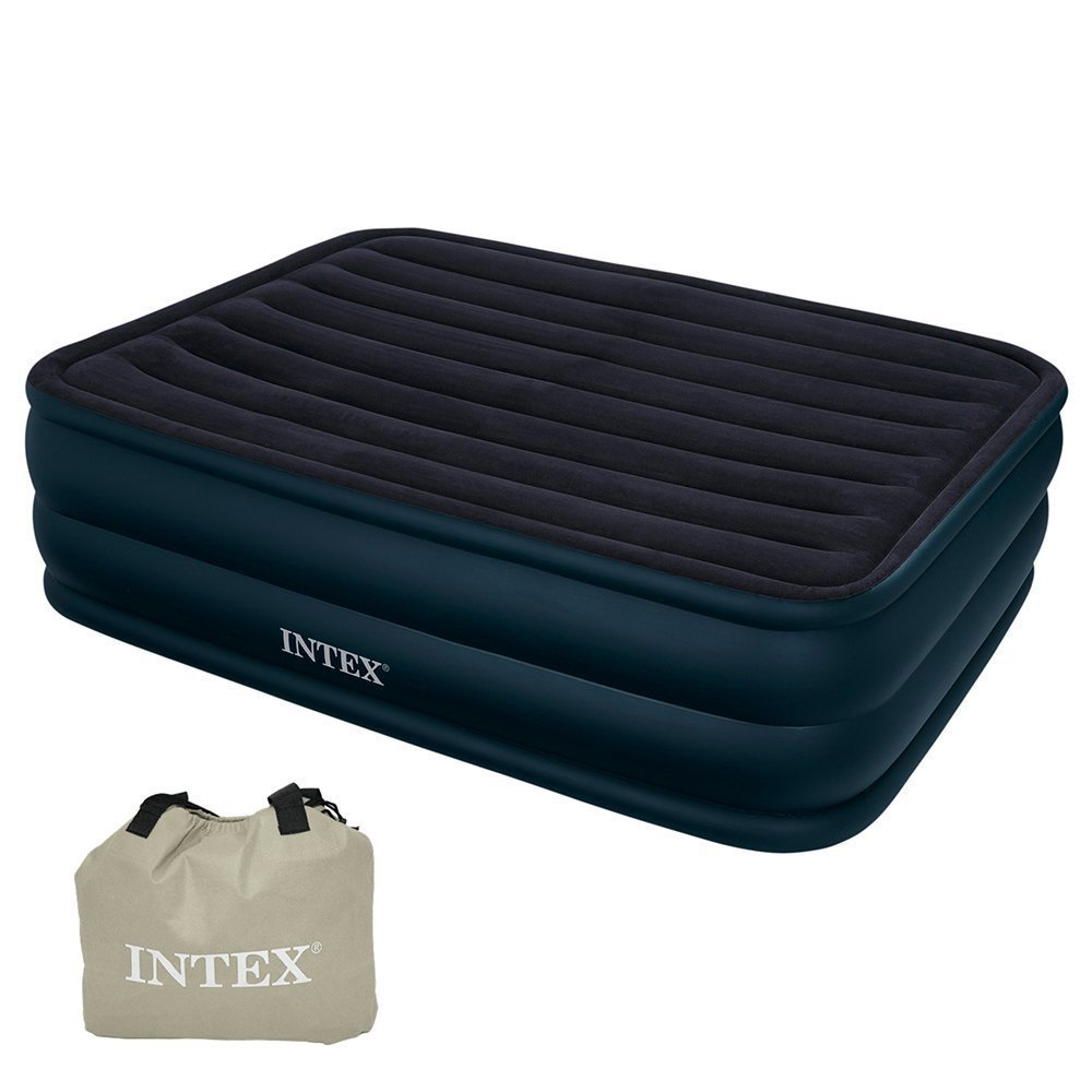 intex 66718 raised queen air bed with built in electric. Black Bedroom Furniture Sets. Home Design Ideas