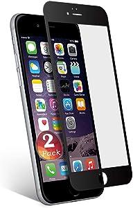aiMaKE Protector de Pantalla Compatible con iPhone 6/6s Plus,3D Pantalla Completa Cristal Templado Pantalla protectora Anti Blu Ray,cubre la pantalla completa perfectamente para iPhone 6/6s Plus Negro