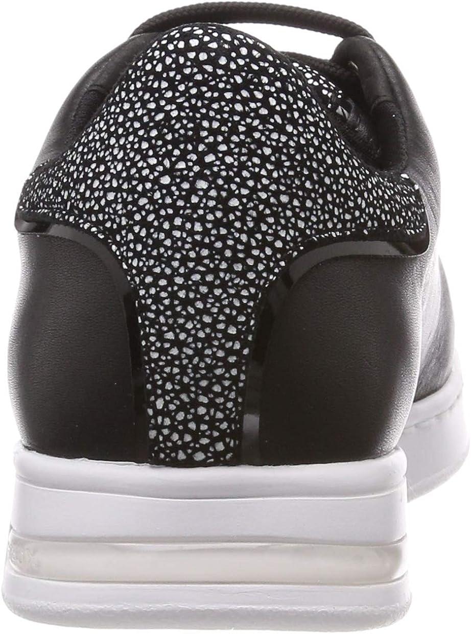 Geox Women's D Jaysen a Low-Top Sneakers, Black Black (Blackc9999 C9999)