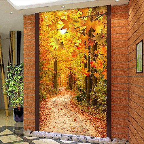 Mznm Custom Wallpaper Murals Hd Maple Grove Living Room Entrance Hallway Backdrop Decorative Paper Wall Mural Papel Pintado Pared-280X200Cm
