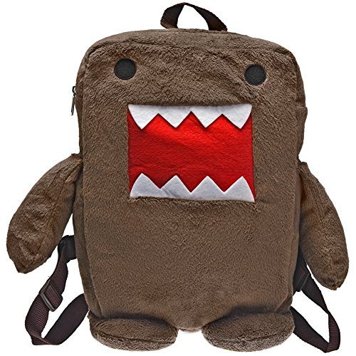 Domo Little Boys' Mini Stuffed Backpack, Brown, One Size
