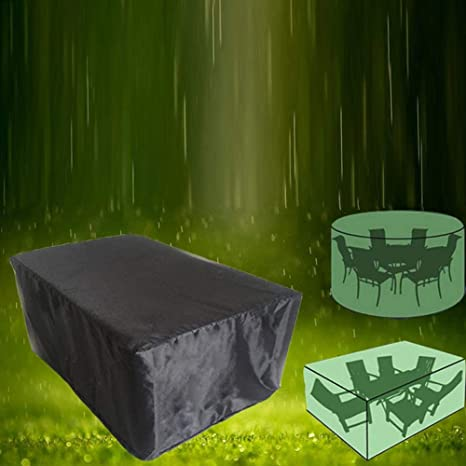 Amazon.com : Ksruee Dust Cover Patio Table Cover Square ...