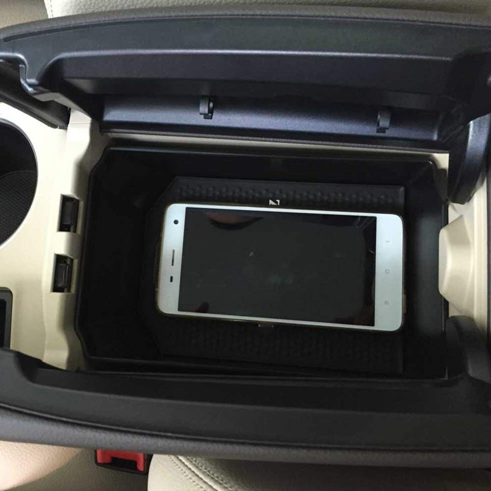 guantera AUTO Pro para Mercedes Benz GLK Clase X204 200 260 300 pl/ástico Bandeja de Almacenamiento con Alfombrilla Negra reposabrazos Accesorio para Auto