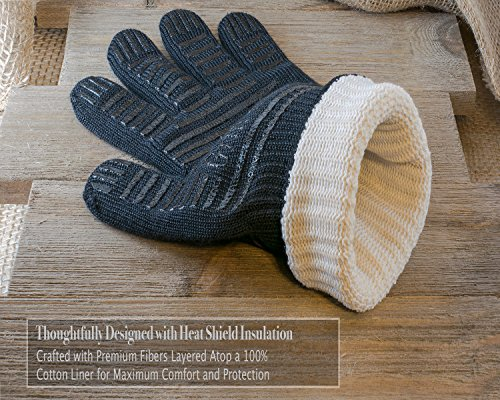 "Extreme Heat BBQ Grill Gloves for Baking, Grilling, Oven Use – Protection Up To 932°, 14"" Long (Limited SALE Price)"