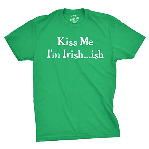 acb4bd608 Amazon.com: Mens Kiss Me I'm Irish-ish Tshirt Funny Saint Patrick's ...