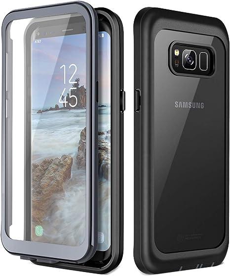 Prologfer Funda para Samsung Galaxy S8 360 Grados Transparente Carcasa Resistente con Protector de Pantalla incorporada Prueba de Golpes y Suciedad Cover para Samsung Galaxy S8 Negro: Amazon.es: Electrónica