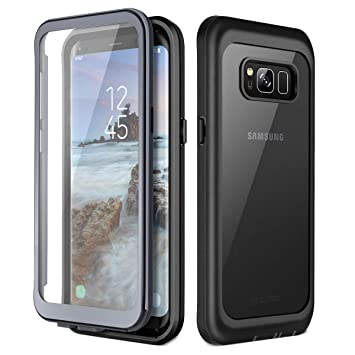 finest selection 003f1 7ce25 Prologfer Case for Samsung S8 Plus Case 360 Degree Protection Built-in  Screen Protector Cover Shockproof Dust-Proof Shell Slim Fit Rugged Clear  Bumper ...