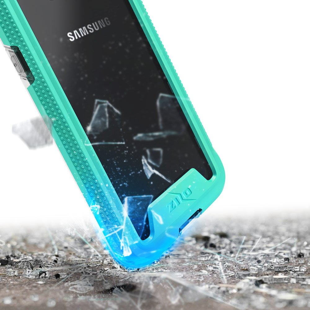 Zizo ION Series Compatible with Samsung Galaxy S8 Case Military Grade Drop Tested with Tempered Glass Screen Protector Silver Clear