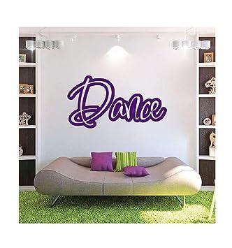 Dailinming Pvc Wandtattoo Aufkleber Englisch Dance Dance Music Room