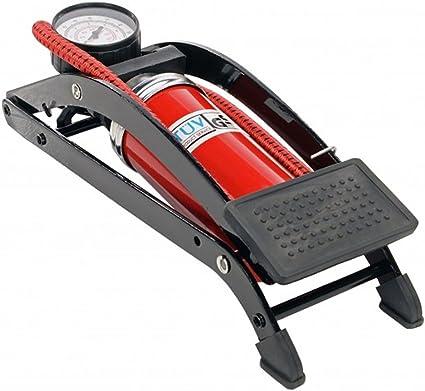DP Design® - Bomba de aire a pedal con manómetro de alta presión de un cilindro para inflar ruedas de bicicletas, zodiacs, botes, etc.: Amazon.es: Deportes y aire libre