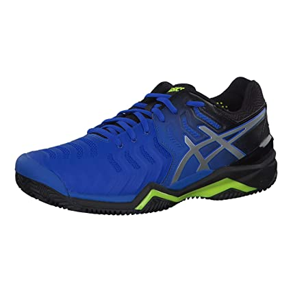 Asics Herren Gel Resolution 7 Tennis Schuhe Laufschuhe Blau